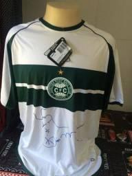 Camisa do Coritiba - Tam G (L) original Penalty - Nova na etiqueta. Autografada Luiz Mário