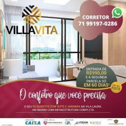 Villa Vita Residencial, lançamento 2 quartos com suíte em 53m² na Vila Laura
