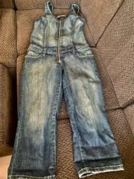 Macacão jeans, Tam 38