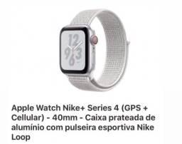 Apple Watch Nike+ 4 Series - Gps + Cellular - 40mm Prateado
