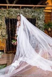 Vendo vestido de casamento usado uma única vez