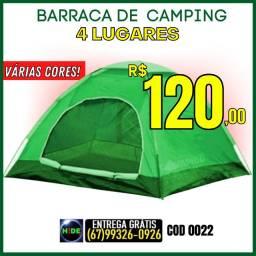 Barraca de Camping - 4 Lugares Várias Cores(Entrega GRÁTIS)