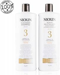 Kit Nioxin Sistema 3 Cleanser Shampoo + Scalp Revitalizer 1000ml
