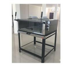 Forno de lastro Refratário A Gás Com Infravermelho 92x92cm ideal para pizzas