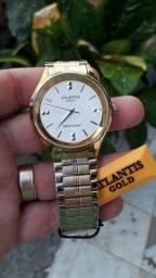 Relógio Atlantis Feminino Original Dourado Prova D'agua Top<br><br>