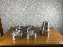 5 conjuntos de 3 formas de alumínio