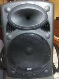 Caixa de som amplificada ativa e passiva com Bluetooth