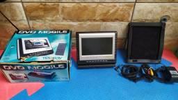 DVD portátil Tectoy  + suporte para  carro