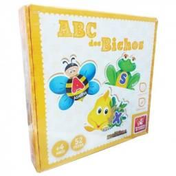 ABC dos Bichos - brinquedo educativo em madeira