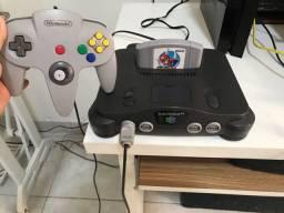 Nintendo 64 completo pra jogar