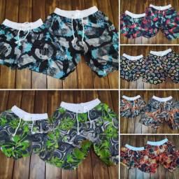 Kit casal roupa moda praia short bermuda