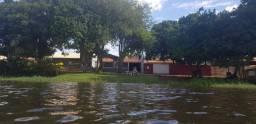Rancho no Rio Grande em fronteira