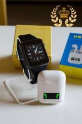 Kit Smartwatch A1 + Fone Bluetooth V9/ i99 TWS