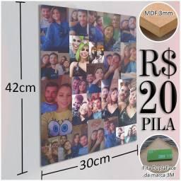 Kit 5 placas decorativas (Personalizamos)