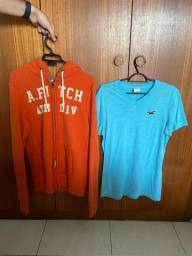 Casaco Abercrombie + camiseta Hollister, originais tamanho M