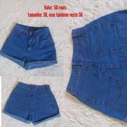 Short Mom Jeans azul