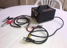 Carregador de bateria veicular, R$ 200,00