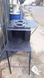 Fogão caipira de ferro