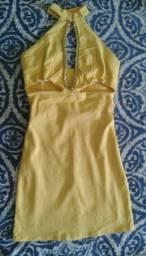 Vestido amarelo lindo tamanho(M)