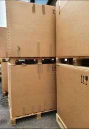 Caixa de papelão grande exportação com palete
