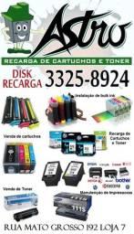 Recarga de Cartuchos e Toner, Manutenção de impressoras, tinta para impressoras