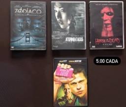 Lote DVDs de Locadora Zodíaco, Atormentados, House of The Dead, Clube da Luta