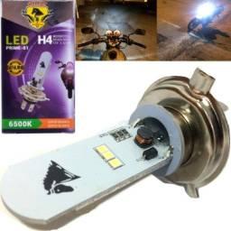 1 Lampada Moto H4 Super Led