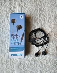 Fone de ouvido Philips com microfone ORIGINAL