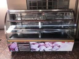 Balcão Refrigerado para açougue de Inox