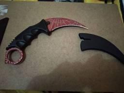 faca karambit vermelho tatica cs go red<br>