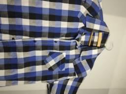 Título do anúncio: camisa xadrez azul masculina Tamanho G