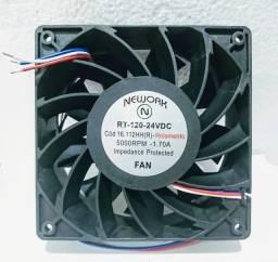 Miniventilador Nework 16.112-hh-r 24vdc rol 5000 rpm 120x120x38 mm.