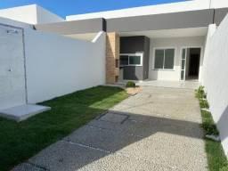 Novas Casas Modernas, Ancuri, Fachada 3D, 81m2, 2 Qtos, 2 Vagas, Chuveirão e Churrasqueira