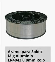 Arame para solda mig. 0.8 alumínio novo