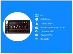 Central Multimídia Pioneer 2 Din - Bluetooth, Usb, Aux 6,2 Polegadas