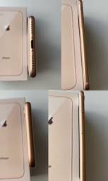 Iphone 8 Rosé 64 GB com cabo USB original