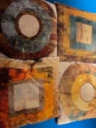 Jogo de 4 Almofadas Geométricas 100% algodão 50 x 50 cm - Usadas