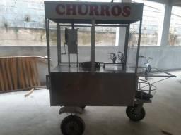 Fonte de renda, troco este carrinho de churros por chineray em bom estado.