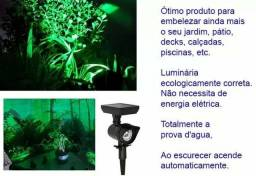 Espeto energia solar verde ou branco para Jardim NÃO PRECISA DE INSTALAÇÃO ELÉTRICA