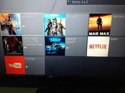 PS4 Slim Com 44Jogos Digitais+ 4 jogos mídias físicas