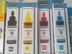 Tinta P/ Epson Refil Bulk Kit C/4 Cores Masterprint 100ml