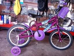 Bicicleta aro 16 com roda lateral Nova