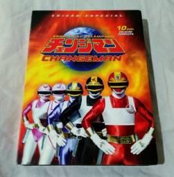Box dvd seriado changeman tokusatsu original completo 10 dvds novo!