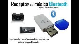 Receptor de Musica Audio Bluetooth para Carro