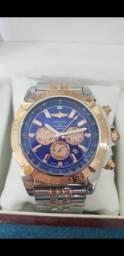 Relógio Breitling Aviador Modelo AB0110 a prova d'água Completo
