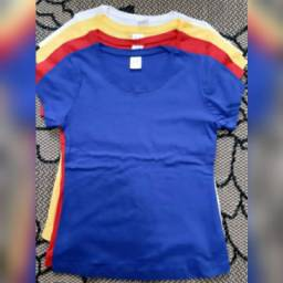 Camisetas Básicas Baby Look Femininas