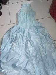 Vendo vestido de festa azul