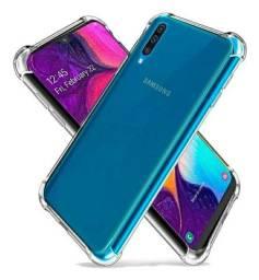 Kit Capa Capinha Anti Impacto + Pelicula Gel 5D para Samsung A30s e A50