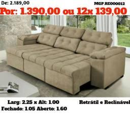 Promoção de Londrina - Sofa Retratil e Reclinavel Grande - Direto da Fabrica