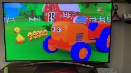 Smart tv tela curva 55